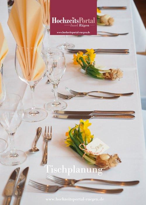 Tischordnung für die Planung einer Hochzeit auf der Insel Rügen an der Ostsee